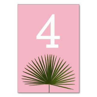 Tropical Palm Frond Leaf Wedding Card