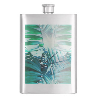 Tropical Palm Hip Flask