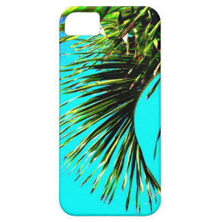 tropical palm iPhone 5 Barely There case teal