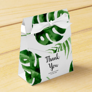 Tropical Palm Leaf Birthday Favour Box