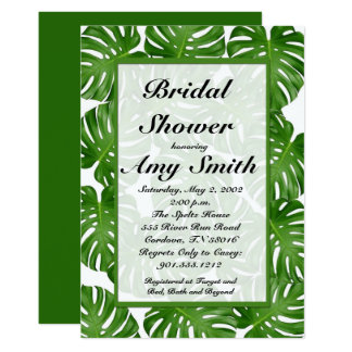 Tropical Palm Leaf Bridal Shower Invitation