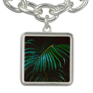 Tropical Palm Leaf Calm Green Minimalistic