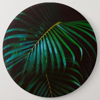 Tropical Palm Leaf Calm Green Minimalistic 6 Cm Round Badge