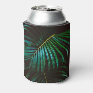 Tropical Palm Leaf Calm Green Minimalistic Can Cooler