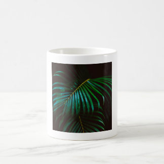 Tropical Palm Leaf Calm Green Minimalistic Coffee Mug
