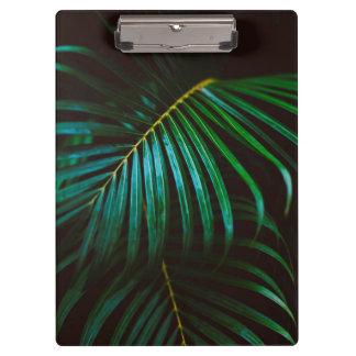 Tropical Palm Leaf Calming Green, Meditative Clipboard