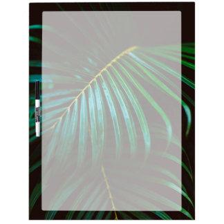 Tropical Palm Leaf Calming Green, Meditative Dry Erase Board