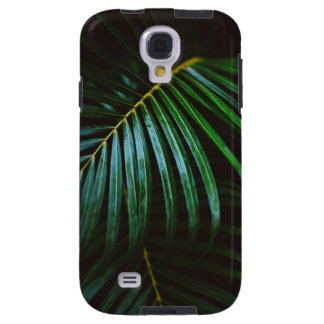 Tropical Palm Leaf Calming Green, Meditative Galaxy S4 Case