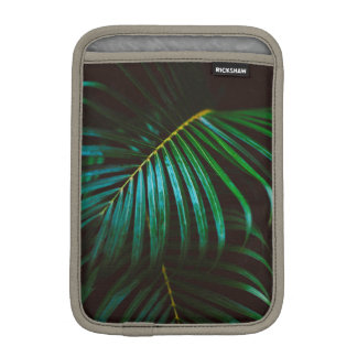 Tropical Palm Leaf Calming Green, Meditative iPad Mini Sleeve