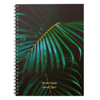Tropical Palm Leaf Calming Green, Meditative Spiral Notebook