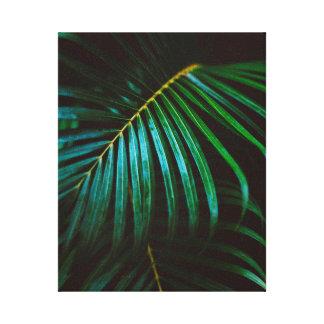 Tropical Palm Leaf Green Relaxing Meditative Canvas Print