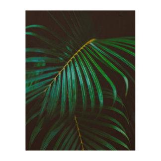 Tropical Palm Leaf Green Relaxing Meditative Wood Wall Decor