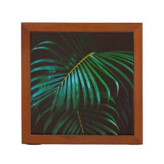 Tropical Palm Leaf Relaxing Green Calming Desk Organiser