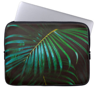 Tropical Palm Leaf Relaxing Green Calming Laptop Sleeve
