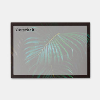 Tropical Palm Leaf Relaxing Green Calming Post-it Notes