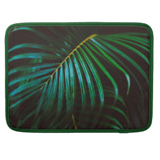 Tropical Palm Leaf Relaxing Green Calming Sleeve For MacBook Pro