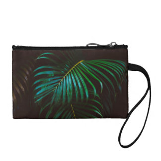 Tropical Palm Leaf Relaxing Green Meditative Coin Purse