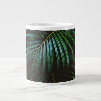 Tropical Palm Leaf Relaxing Green Meditative Large Coffee Mug