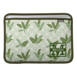 Tropical Palm Leaves | Add Your Name MacBook Air Sleeve