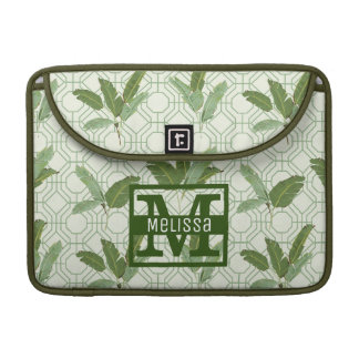 Tropical Palm Leaves | Add Your Name Sleeves For MacBook Pro