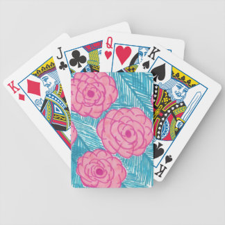 Tropical Palm Leaves and Flowers Bicycle Playing Cards