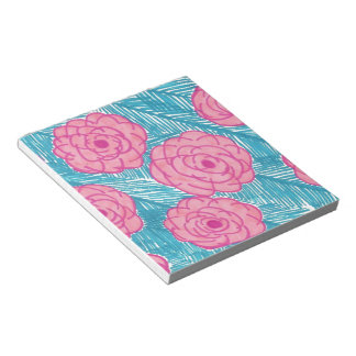 Tropical Palm Leaves and Flowers Notepad