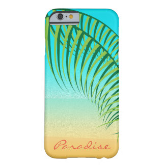 Tropical Palm Leaves Deserted Beach Barely There iPhone 6 Case