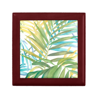 Tropical Palm Leaves Gift Box