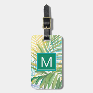 Tropical Palm Leaves Luggage Tag