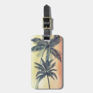 Tropical Palm Leaves Luggage Tag