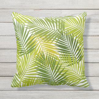 Tropical Palm Leaves Pattern Patio Deck Chair Cushion