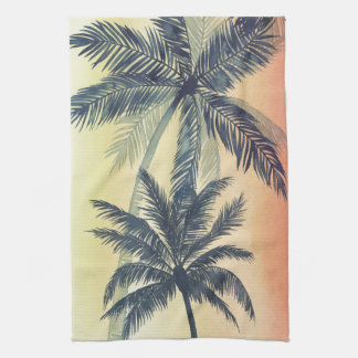 Tropical Palm Leaves Tea Towel