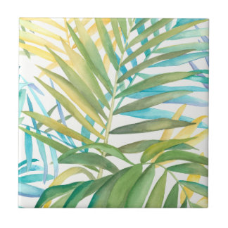 Palm Trees Decorative Ceramic Tiles Zazzle Com Au