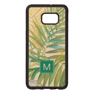 Tropical Palm Leaves Wood Samsung Galaxy S6 Edge Case