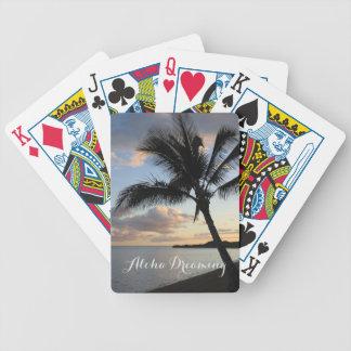 Tropical Palm Ocean Aloha Dreaming Poker Deck