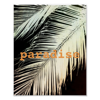 tropical palm poster with text photo art sepia