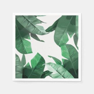 Tropical palm print napkins paper serviettes