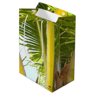 Tropical Palm Tree and Blue Sky Medium Gift Bag