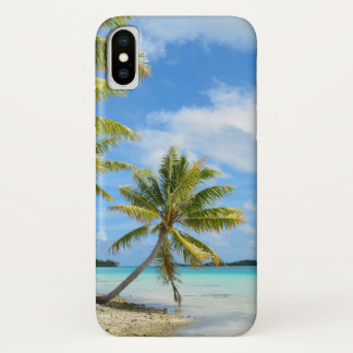 Tropical palm tree beach iPhone X cover