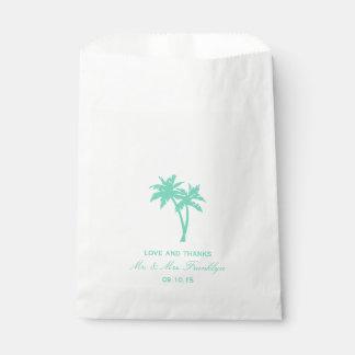 Tropical Palm Tree Beach Wedding Favor Bag