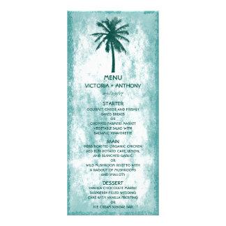 Tropical Palm Tree Beach Wedding Menu