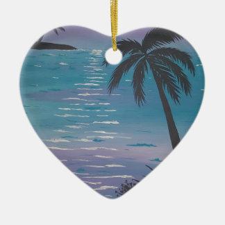 Tropical Palm Tree Ceramic Ornament