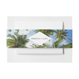 Tropical Palm Tree Florida Beach Wedding Invitation Belly Band