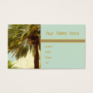 Tropical Palm Tree Florida Palm Trees Business Card