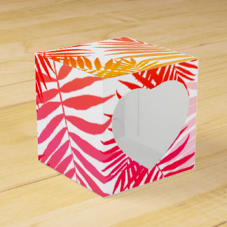 Tropical Palm Tree Leaf Summer Sunset Favour Box