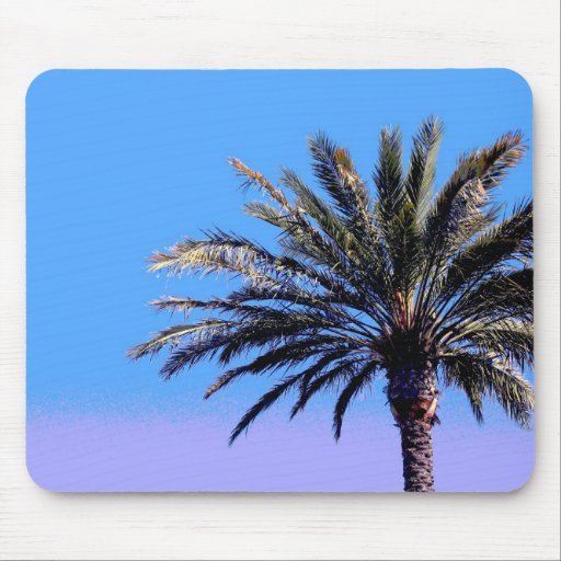 tropical palm tree mouse mats
