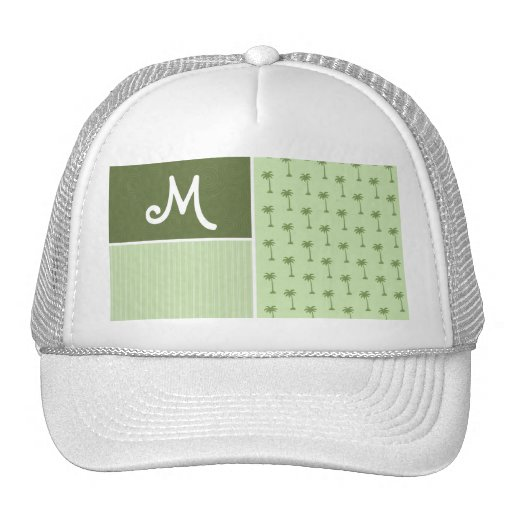 Tropical Palm Tree Pattern Mesh Hat