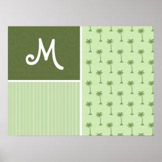 Tropical Palm Tree Pattern Print