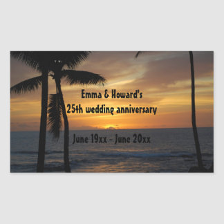 Tropical Palm Tree Personalized wine labels