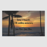 Tropical Palm Tree Personalized wine labels Rectangle Stickers
